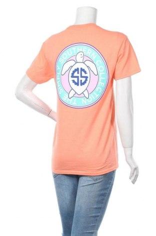 Дамска тениска Simply Southern, Размер S, Цвят Оранжев, Памук, Цена 12,04лв.