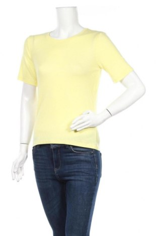 Дамска тениска Stefanel, Размер M, Цвят Жълт, Цена 59,25лв.