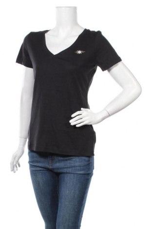 Дамска тениска Tom Tailor, Размер S, Цвят Черен, 50% памук, 50% модал, Цена 21,00лв.