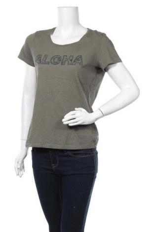 Дамска тениска Tom Tailor, Размер L, Цвят Зелен, Памук, Цена 17,90лв.