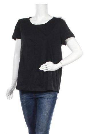 Дамска тениска Vivance, Размер L, Цвят Черен, Памук, Цена 18,02лв.