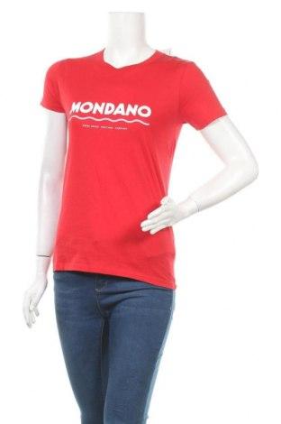 Дамска тениска Wood Wood, Размер S, Цвят Червен, Памук, Цена 27,30лв.