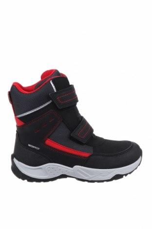Παιδικά παπούτσια Geox, Μέγεθος 32, Χρώμα Μαύρο, Δερματίνη, κλωστοϋφαντουργικά προϊόντα, Τιμή 34,39€