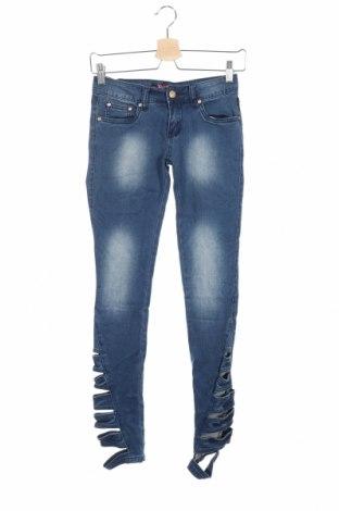Дамски дънки, Размер XXS, Цвят Син, 98% памук, 2% еластан, Цена 13,23лв.