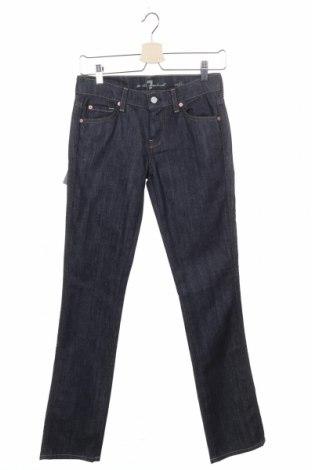 Γυναικείο Τζίν 7 For All Mankind, Μέγεθος XS, Χρώμα Μπλέ, 98% βαμβάκι, 2% ελαστάνη, Τιμή 27,53€