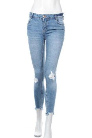 Дамски дънки Fb Sister, Размер M, Цвят Син, 98% памук, 2% еластан, Цена 21,42лв.