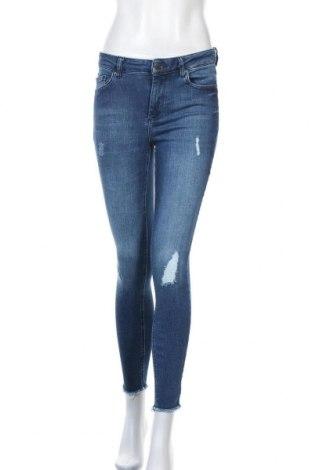 Дамски дънки ONLY, Размер M, Цвят Син, 92% памук, 6% полиестер, 2% еластан, Цена 29,40лв.