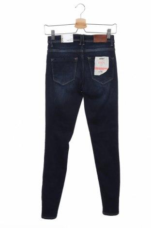 Дамски дънки ONLY, Размер S, Цвят Син, 91% памук, 9% еластан, Цена 51,75лв.