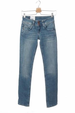 Дамски дънки Pepe Jeans, Размер XS, Цвят Син, 98% памук, 2% еластан, Цена 30,42лв.
