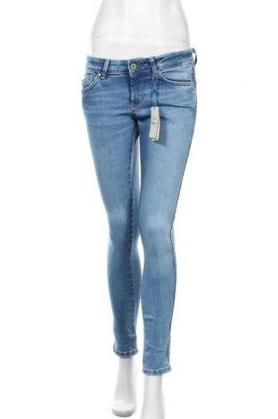 Дамски дънки Pepe Jeans, Размер S, Цвят Син, 98% памук, 2% еластан, Цена 58,80лв.