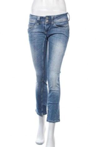 Дамски дънки Pepe Jeans, Размер S, Цвят Син, 98% памук, 2% еластан, Цена 38,75лв.