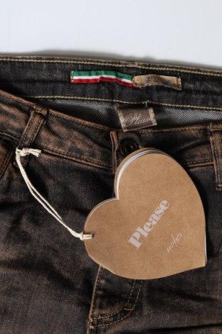 Дамски дънки Please, Размер S, Цвят Кафяв, 98% памук, 2% еластан, Цена 25,80лв.