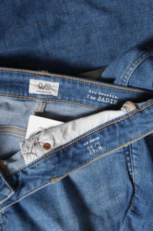 Дамски дънки Q/S by S.Oliver, Размер L, Цвят Син, 83% памук, 15% полиестер, 2% еластан, Цена 57,00лв.