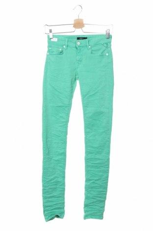 Дамски дънки Replay, Размер XS, Цвят Зелен, 91% памук, 9% еластан, Цена 186,75лв.