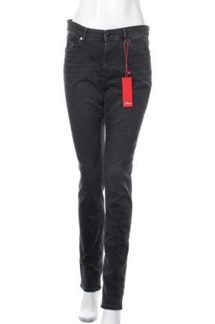 Дамски дънки S.Oliver, Размер M, Цвят Сив, 98% памук, 2% еластан, Цена 66,75лв.