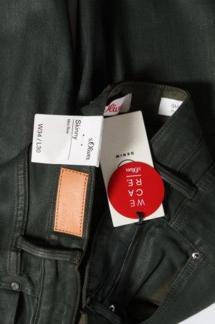 Дамски дънки S.Oliver, Размер XS, Цвят Зелен, 38% модал, 25% лиосел, 22% памук, 14% полиестер, 1% еластан, Цена 22,08лв.