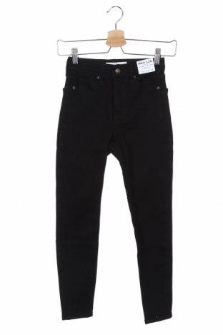 Дамски дънки Topshop, Размер XXS, Цвят Черен, 90% памук, 10% еластан, Цена 27,06лв.