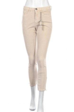 Дамски джинси Opus, Размер S, Цвят Бежов, 97% памук, 3% еластан, Цена 23,25лв.
