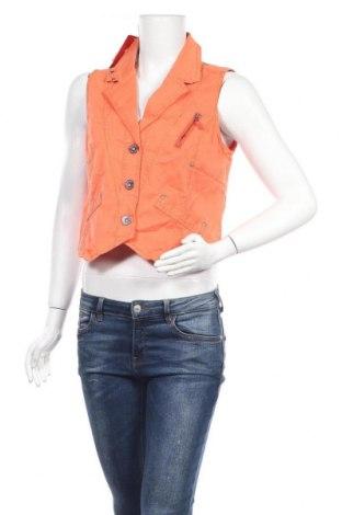 Дамски елек Top Secret, Размер L, Цвят Оранжев, 97% памук, 3% еластан, Цена 13,23лв.