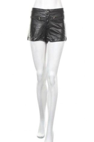 Дамски къс кожен панталон H&M Divided, Размер S, Цвят Черен, Еко кожа, Цена 6,93лв.