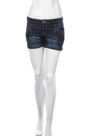 Γυναικείο κοντό παντελόνι Clockhouse, Μέγεθος M, Χρώμα Μπλέ, 99% βαμβάκι, 1% ελαστάνη, Τιμή 3,38€