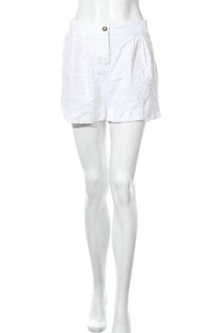 Γυναικείο κοντό παντελόνι Esmara, Μέγεθος L, Χρώμα Λευκό, 55% λινό, 45% βαμβάκι, Τιμή 3,18€