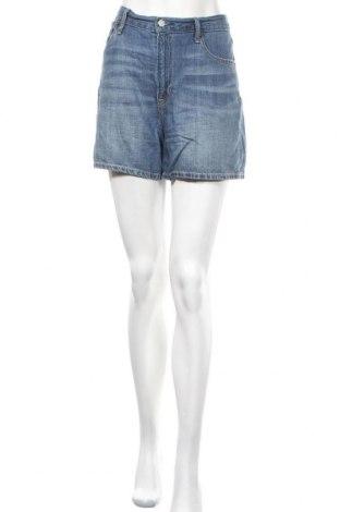 Γυναικείο κοντό παντελόνι Gap, Μέγεθος L, Χρώμα Μπλέ, 43% βαμβάκι, 38% λινό, 19% lyocell, Τιμή 5,98€