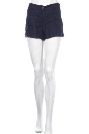 Γυναικείο κοντό παντελόνι H&M, Μέγεθος M, Χρώμα Μπλέ, 55% λινό, 45% βαμβάκι, Τιμή 9,35€