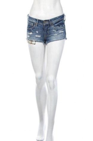 Γυναικείο κοντό παντελόνι H&M, Μέγεθος XS, Χρώμα Μπλέ, Βαμβάκι, Τιμή 11,59€