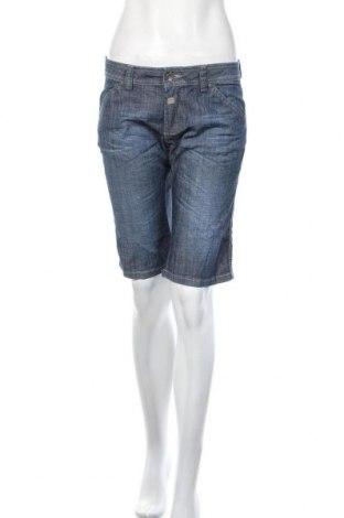 Дамски къс панталон Jones, Размер M, Цвят Син, 81% памук, 18% полиестер, 1% еластан, Цена 22,94лв.