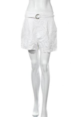 Дамски къс панталон Mango, Размер M, Цвят Бял, 58% лен, 42% вискоза, Цена 11,55лв.