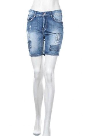 Γυναικείο κοντό παντελόνι Onado, Μέγεθος S, Χρώμα Μπλέ, 70% βαμβάκι, 28% πολυεστέρας, 2% ελαστάνη, Τιμή 10,52€