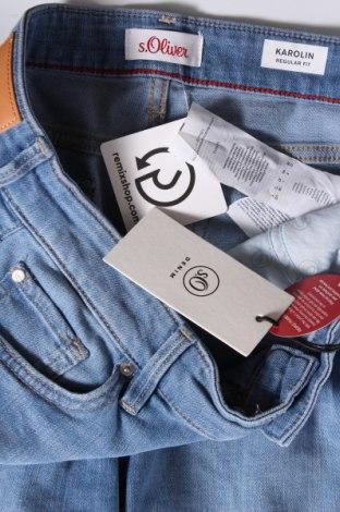 Γυναικείο κοντό παντελόνι S.Oliver, Μέγεθος M, Χρώμα Μπλέ, 85% βαμβάκι, 14% πολυεστέρας, 1% ελαστάνη, Τιμή 24,19€