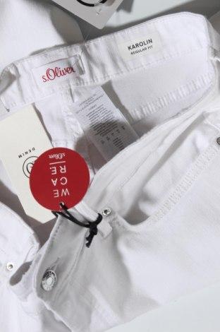 Γυναικείο κοντό παντελόνι S.Oliver, Μέγεθος XL, Χρώμα Λευκό, 50% βαμβάκι, 40% βισκόζη, 8% πολυεστέρας, 2% ελαστάνη, Τιμή 20,68€