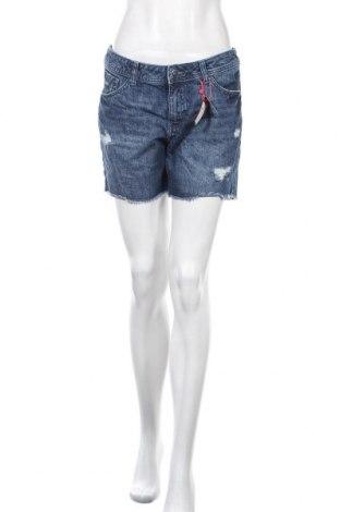Γυναικείο κοντό παντελόνι S.Oliver, Μέγεθος M, Χρώμα Μπλέ, Βαμβάκι, Τιμή 25,97€