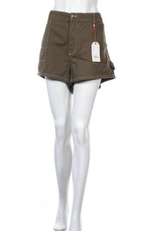 Дамски къс панталон Twintip, Размер 3XL, Цвят Зелен, Памук, Цена 31,50лв.