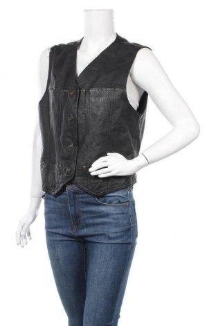 Γυναικείο δερμάτινο γιλέκο C&A, Μέγεθος L, Χρώμα Μαύρο, Γνήσιο δέρμα, Τιμή 17,96€