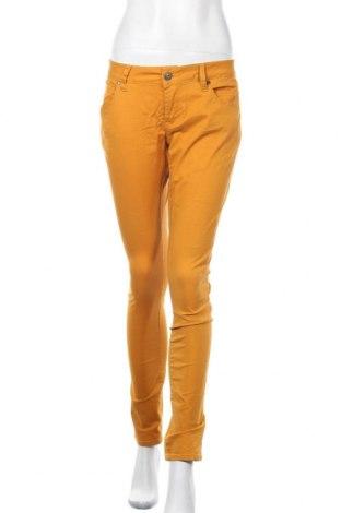 Γυναικείο παντελόνι Amisu, Μέγεθος L, Χρώμα Κίτρινο, 98% βαμβάκι, 2% ελαστάνη, Τιμή 5,23€