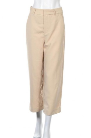 Дамски панталон Gestuz, Размер S, Цвят Бежов, 97% полиестер, 3% еластан, Цена 72,60лв.