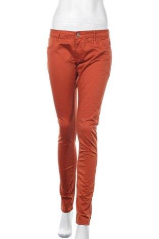 Дамски панталон Le Temps Des Cerises, Размер L, Цвят Оранжев, 97% памук, 3% еластан, Цена 18,74лв.