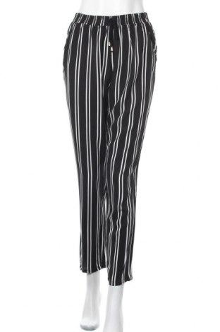 Дамски панталон My Hailys, Размер M, Цвят Черен, Вискоза, Цена 25,20лв.