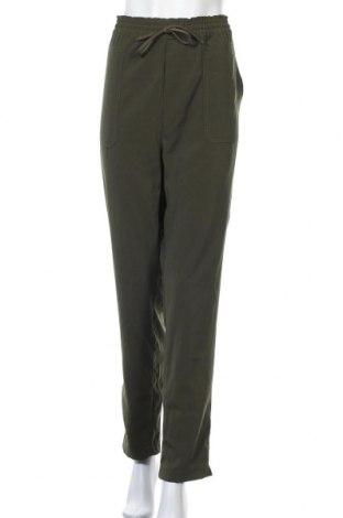 Дамски панталон Object, Размер L, Цвят Зелен, 97% полиестер, 3% еластан, Цена 49,50лв.