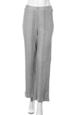 Γυναικείο παντελόνι Pieces, Μέγεθος M, Χρώμα Γκρί, 60% πολυεστέρας, 35% βαμβάκι, 5% ελαστάνη, Τιμή 13,40€