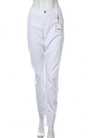 Дамски панталон Triangle By s.Oliver, Размер XL, Цвят Бял, 97% памук, 3% еластан, Цена 31,16лв.