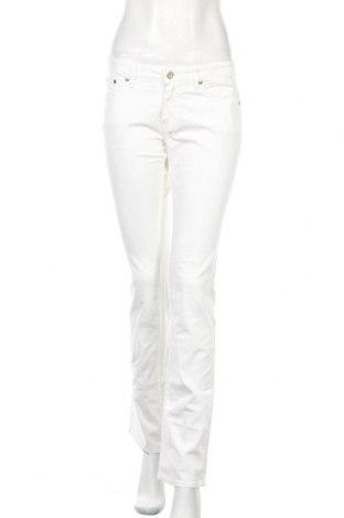 Дамски панталон Trussardi Jeans, Размер S, Цвят Бял, 98% памук, 2% еластан, Цена 44,64лв.