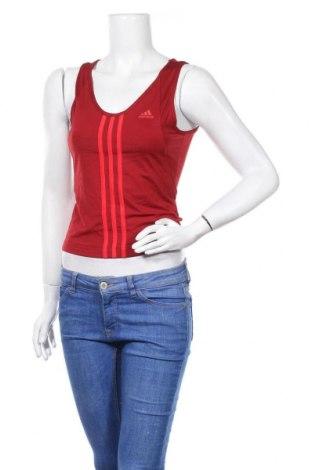 Γυναικείο αμάνικο μπλουζάκι Adidas, Μέγεθος M, Χρώμα Κόκκινο, 90% πολυαμίδη, 10% ελαστάνη, Τιμή 5,85€