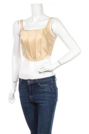 Γυναικείο αμάνικο μπλουζάκι Adidas Originals, Μέγεθος XS, Χρώμα  Μπέζ, 93% πολυεστέρας, 7% ελαστάνη, Τιμή 34,41€