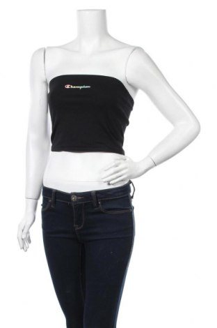 Γυναικείο αμάνικο μπλουζάκι Champion, Μέγεθος L, Χρώμα Μαύρο, 90% βαμβάκι, 10% ελαστάνη, Τιμή 15,08€