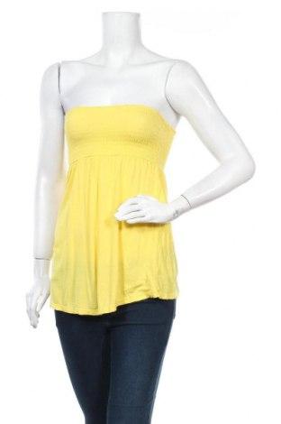 Дамски потник H&M Divided, Размер S, Цвят Жълт, Вискоза, Цена 3,00лв.