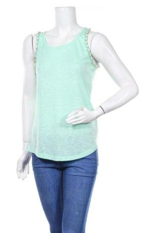 Γυναικείο αμάνικο μπλουζάκι Madonna, Μέγεθος L, Χρώμα Πράσινο, 70% βαμβάκι, 30% πολυεστέρας, Τιμή 6,82€